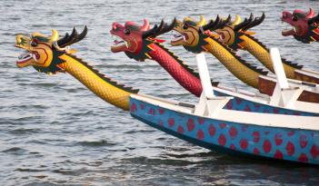 Drachenboot-Rennen in Stuttgart