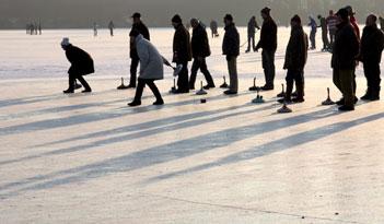 Eisstockschießen in Stuttgart
